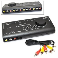 iKKEGOL® 4 in 1 AV Audio Video Signal Switcher S-Video Selector with RCA Cable   - intl