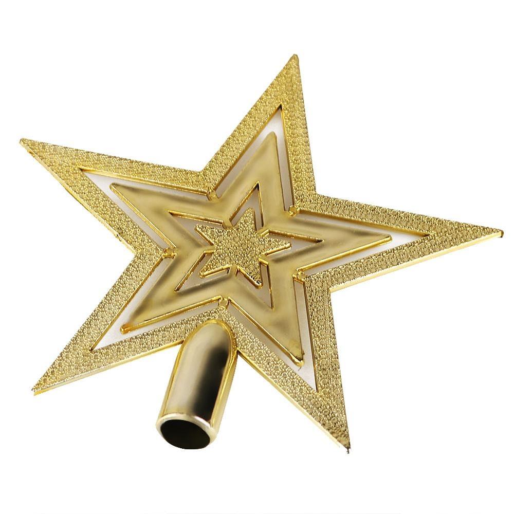 Rp 34.000. IKLAN Pohon Natal Dekoratif Golden Topper Star Xmas Party ...