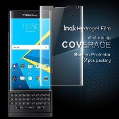 IMAK 2 Pcs Packing Full Screen Complete Covering Soft Hydrogel Protector Film for Blackberry Priv / Venice - intl