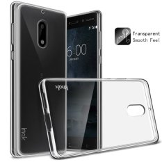 Jual Imak For Nokia 6 Bening Lembut Tpu Kulit Tutup With Film Anti Gores Transparan Imak Original