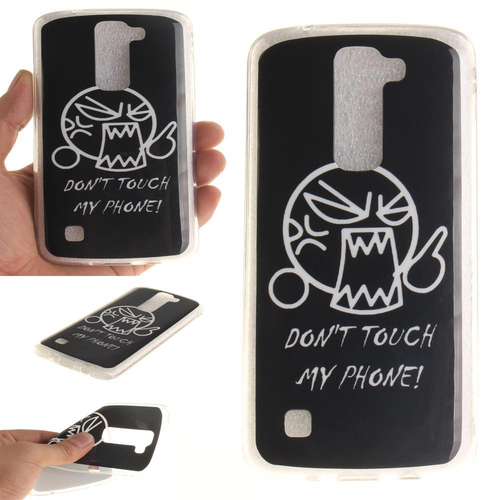 IMD Bermotif Lembut TPU Jelly Cover For LG K8-Jangan Sentuh Ponsel I