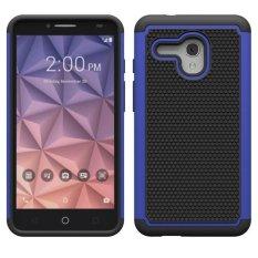 IMPACT Rugged Shockproof Back Case Cover Kulit untuk Alcatel OneTouch Fierce XL Biru Tua-Internasional