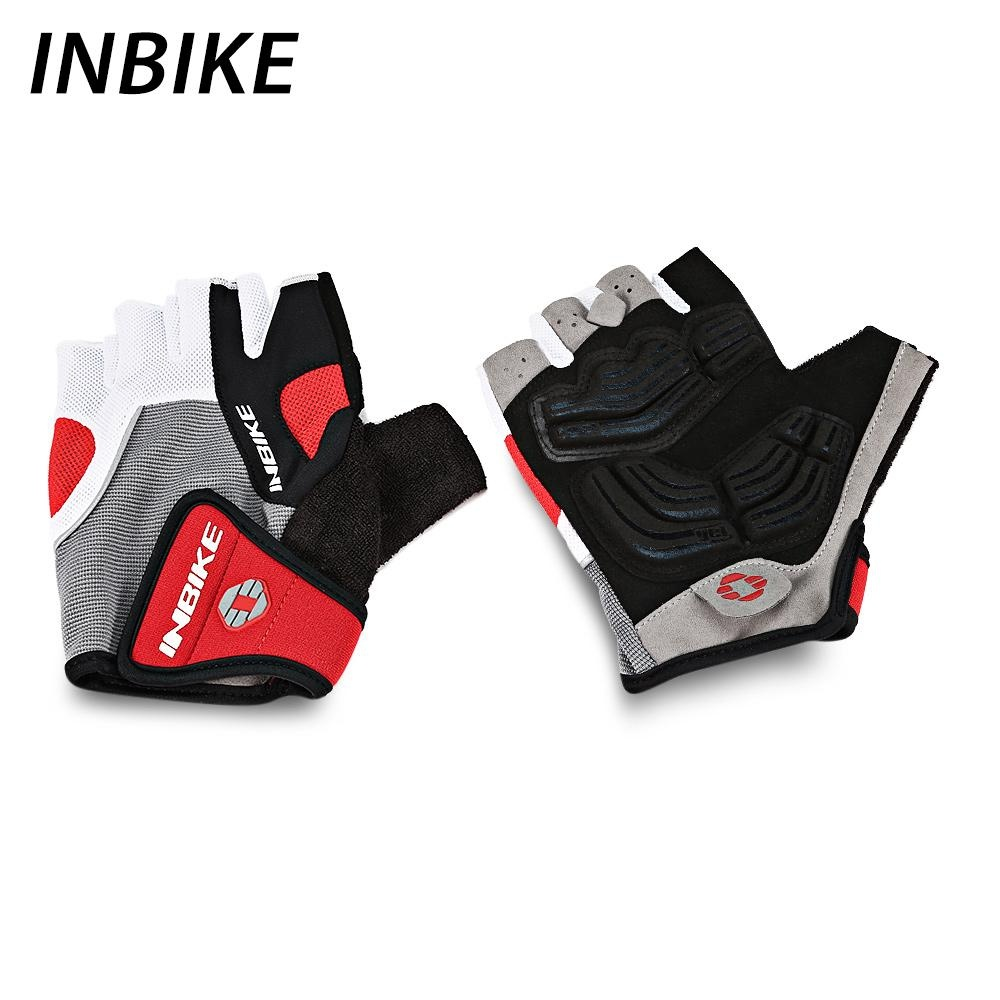 Tips Beli Inbike Pair Of Breathable Half Finger Mountain Bike Cycling Riding Gloves Xl Red Intl Yang Bagus