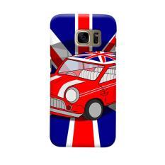 Indocustomcase Mini Cooper UK Flag Casing Case Cover For Samsung Galaxy S7
