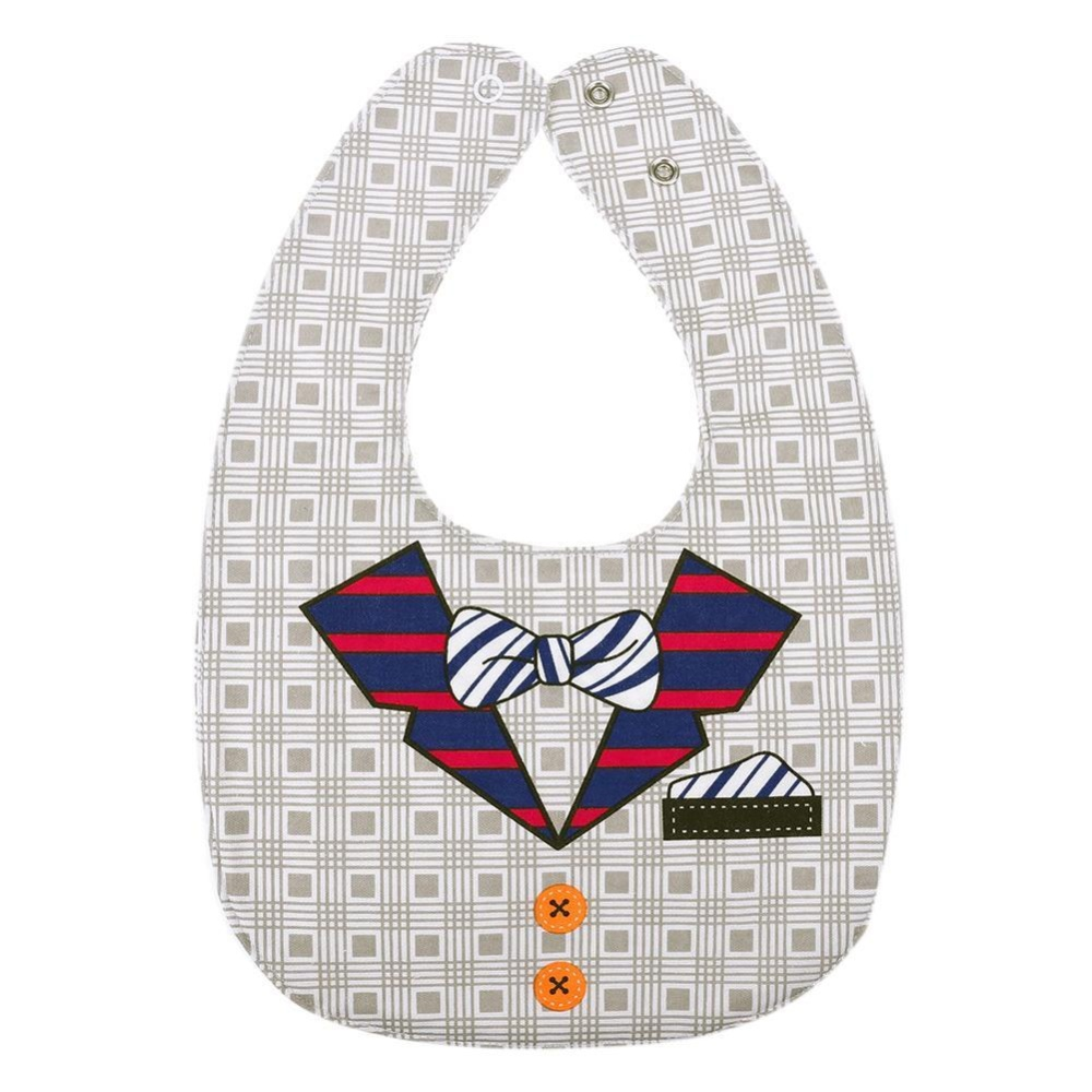 Infant Babies and Kids Supplies Double-sided Pinafore Bib Waterproof Towel - intl