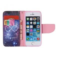 Infinite IPhone 5SE Case, IPhone 5 S Kasus, Flip Painting PU Leather Wallet Kasus Kulit Pelindung untuk Apple IPhone 5/5 S/5SE (Built-In ID /Slot Kartu Kredit) -Intl