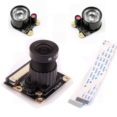 Penglihatan Malam Inframerah Pengawasan 500 Watt Raspberry Pi Modul Kamera With 2 Lampu Infra Merah Internasional Tiongkok Diskon