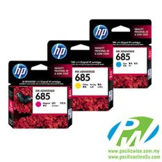 Spesifikasi Ink Cart Hp685Cyan Magenta Yellow Multi