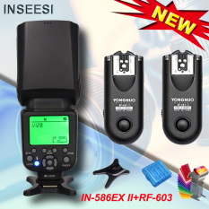 INSEESI IN 586EX II Wireless TTL HSS Flash Speedlite + YONGNUO RF 603 C3 Lead Flash untuk Canon7D/50D /40D/30D/20D/10D/5D Mark II