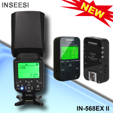Inseesi Di 586EX II TTL Nirkabel HSS Flash Speedlite + Yongnuo YN 622C Kit TTL Memimpin Flash untuk Canon Mark III 5D3 6D 5D 650D 600D