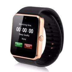 Alarm Cerdas Notifier Bluetooth Konektivitas Elegan Watch Si Mcard GT08 Emas Hitam-Intl