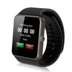 Alarm Cerdas Notifier Bluetooth Konektivitas Elegan Watch Si Mcard GT08 Hitam (Hitam)-Int'l-Intl