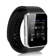 Alarm Cerdas Notifier Bluetooth Konektivitas Elegan Watch Si Mcard GT08 Perak/Hitam-Internasional