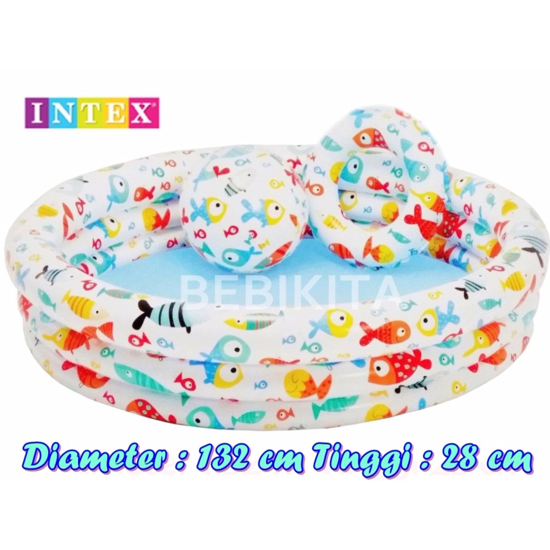 Toko Intex 59469 Kolam Renang Set Anak Uk 1 32 X 28 Cm Motif Aquarium Terlengkap