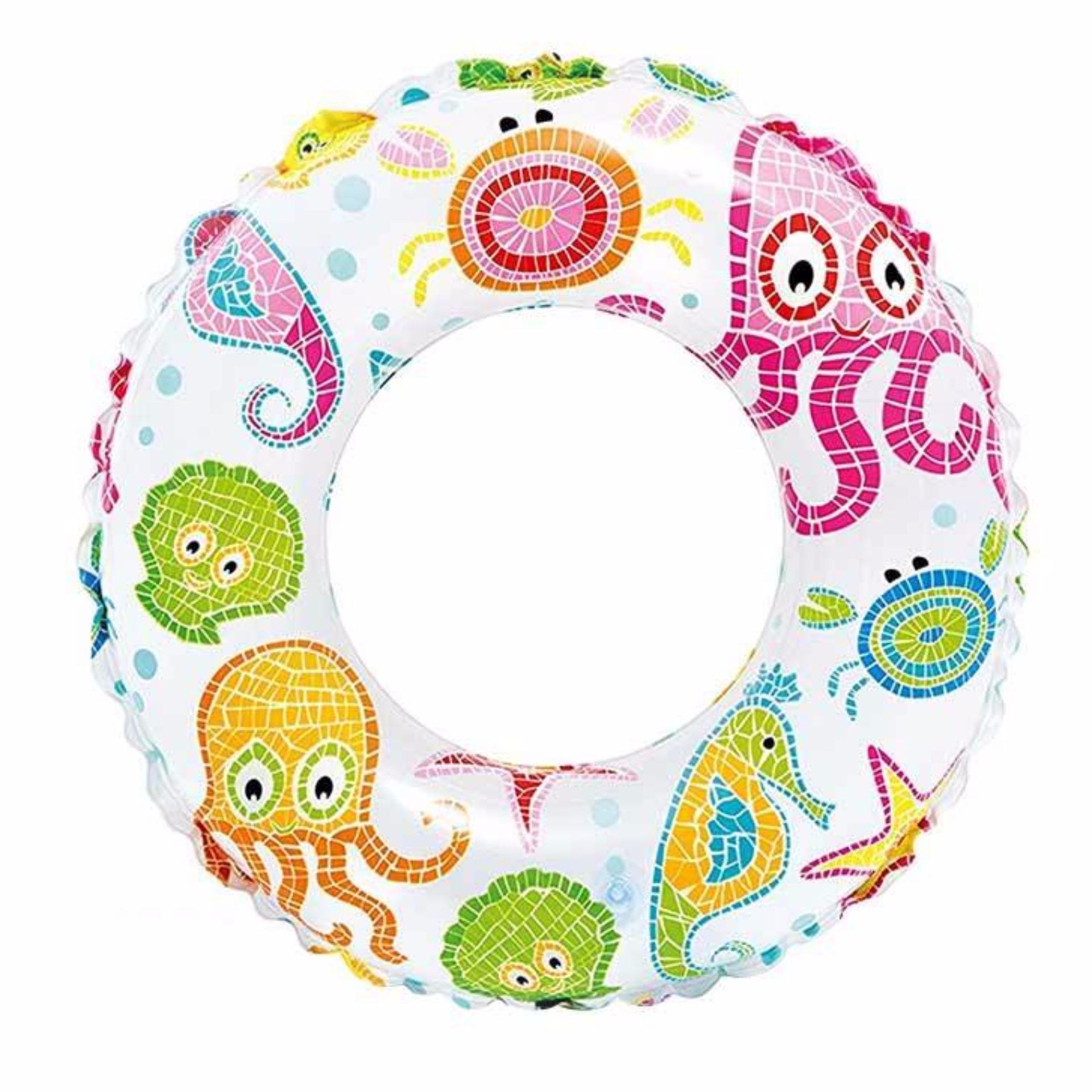 Intex Lively Print Swim Ring 20 Inch (3 Motif) Ban Pelampung Renang Anak 59230