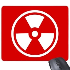 Ionisasi Radiasi Merah Persegi Bentuk Cermat Peringatan Melarang Menandai Ilustrasi Pola Rectangle Karet Non-slip Mouse Alas Permainan Mouse alas-Internasional