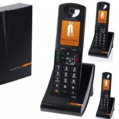 Alcatel Telepon Wireless Cordless Telephone IP1020 + 2 unit IP20 - Hitam