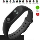 Toko Ip67 Waterproof M2 Smart Denyut Jantung Kebugaran Gelang Gelang Tracker Untuk Android Ios Vx Gelang Oled Display M2 Intl Oem