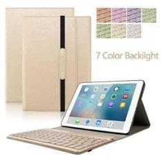 IPad 9.7 Keyboard Case. Dingrich Lipat Tiga PU Case Cover dengan Removable Magnetik Aluminium Bluet