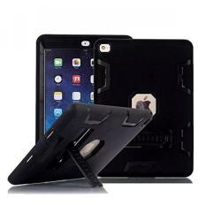 IPad Mini Case, IPad Mini 3 Case, TabPow [Shockproof] [DROP Protection] [Heavy Duty] Triple-Layer Rugged Hybrid Case Cover dengan Stand untuk Apple IPad Mini 1 2 3 (Retina Display) (hitam)