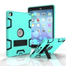 IPad Pro 9.7 Inch Case. Ipad AC 2 Case. 3in1 Penuh-Badan Guncangan Proofhybrid Berat Tugas Pelindung Defender Pelindung Case dengan Stand Penyangga. silikon Kulit Keras Plastik Case untuk iPad Pro 9.7 Inch 2016-Internasional