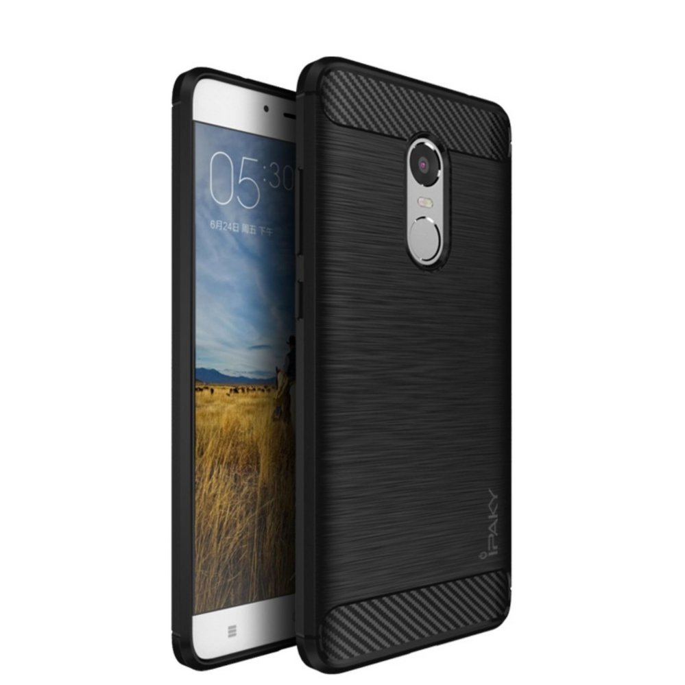 iPaky Carbon Fiber Shockproof Hybrid Case for Xiaomi Redmi Note 3 - Black