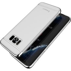 IPAKY untuk Samsung Galaxy S8 Plus G955 3-In-1 Disadur PC Hard Shell Case-Silver- INTL