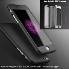 iPaky Hardcase 360 For Apple iPhone 6 Plus / 6s Plus 5.5inch Full Protection Hitam - Free Tempered Glass