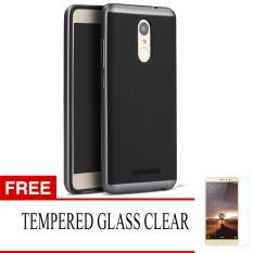 IPAKY Polycarbonate Case Untuk Xiaomi Redmi Note 3 / Note 3 Pro - Black - Free Tempered Glass