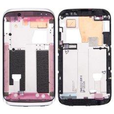 IPartsBuy untuk HTC Desire X/T328e Depan Housing LCD Bingkai Bezel Plate (Putih)-Intl