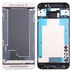IPartsBuy untuk HTC One M9 Depan Housing LCD Bingkai Bezel Plate (Gold Di Silver)-Intl