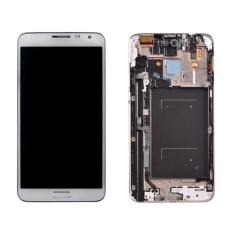 Saya Parts Beli untuk Samsung Galaxy Note 3 Neo/N7505 Asli LCD Display + Layar Sentuh Digitizer dengan Frame (putih) -Intl