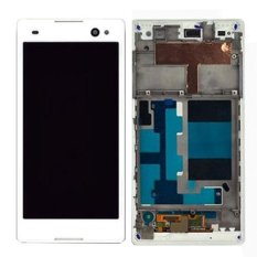 IPartsBuy LCD Tampilan + Layar Sentuh Digitizer dengan Frame Penggantian untuk Sony Xperia C3/D2533