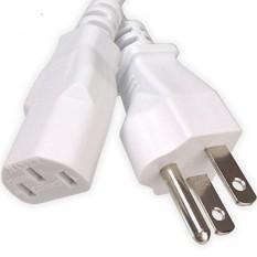 Ipax 15Ft Ekstra Panjang Putih Kabel Kabel Daya AC Tarik Inti Kawat Tembaga Di Kotak Ritel untuk Komputer Plasma TV printer Monitor AC Adapter-Intl