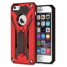 IPhone 5 / 5S / Mooncase untuk Iphone Se Case Detachable 2 In 1 Armor Hibrida Rusak Shockproof Defender Stand Case Cover untuk IPhone 5g / 5S / SE Red-Intl