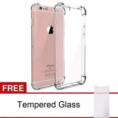 Harga Iphone 6 6S Anticrack Anti Cr*ck Acrylic Case Premium Quality Fuze Fyber Clear Free Premium Tempered Glass Asli Oem