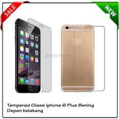 Penawaran Istimewa Iphone 6 Plus Bening Depan Belakang Screen Protector Tempered Glass Terbaru