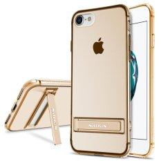 IPhone 7 Case, NILLKIN Yg Tahan Pukulan Seri Jelas Lembut TPU Case dengan Kickstand Penutup Belakang Ultra Tipis Potongan Pas Badan untuk Apple iPhone 7 4.7