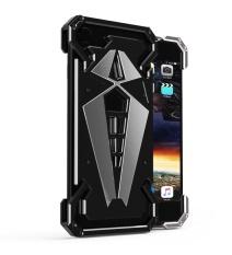 Mooncase untuk IPhone 7 Case [armor Premium] Spider Aluminium Bumper Metal Case [Ganti Yang Dapat Diganti Backplane] Shockproof Protective Rugged Cover untuk IPhone 7 4.7