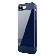 IPhone 7 Plus Case, ALYEE Perlindungan Anti Gores Ultra Tipis Fit Dual Layered Heavy Duty Hybrid Hard PC + Soft TPU Shell Armor Defender Case Cover dengan Kickstand untuk IPhone 7 Plus 5.5 Inch (Navy) -Intl