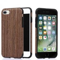 IPhone 7 Plus Case. TabPow Wooden Series-[Shockproof] [DropProtection] Dual Layer Slim Hybrid Wood Case Cover untuk Apple IPhone7 PLUS (5.5 Inch). Sandalwood-Intl