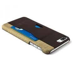 IPhone 8 Plus dan IPhone 7 Plus Card Case dengan Oleh Dockem-minimalis Dompet Kulit Sintetis dengan Kanvas Styling, Ultra Slim Profesional Snap On Cover dengan 1 Kartu Akses Mudah Slot Pemegang-Intl