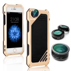 Toko Iphone Oxoqo Iphone 6 Plus 6 S Plus Lensa Kit 3 In 1 Mata Ikan Makro Sudut Lebar Lensa Kamera With Tahan Terhadap Debu Tahan Guncangan Case Aluminium Pelindung Layar Java Me Termasuk Emas Internasional Dekat Sini