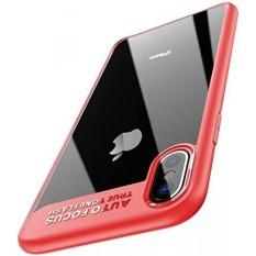 IPhone X Case, electro Beli Online iPhone 10 Case Kristal Bening Case Anti Guncangan Sarung Pelindung Udara Ruang Teknologi Transparan Ultra Ramping Sesuai Case untuk Apple iPhone X (Merah) -Internasional