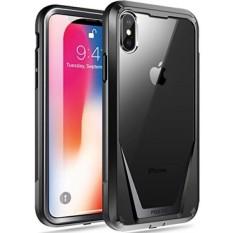 IPhone X Case, poetic Guardian [Menggaruk Tahan] [Perlindungan 360 Derajat] Penuh-Badan Kasar Bening Hibrida Bemper Case dengan Dibangun Di-Dalam Layar Pelindung untuk Apple iPhone X Hitam-Internasional