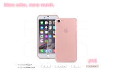 iPhone 7Pro berikut pelindung transparan tipis menggilas yg berpasir drop (mawar Emas) - International