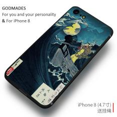 Iphone8/8 PLUS Jepang Silikon Pria atau Wanita Iphone Set Handphone Cangkang