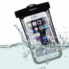 [IPX8-Certified] COOSKIN Universal Waterproof Tahan Air Debu Kotoran Bukti Floating Phone Case Ramah Lingkungan PVC Konstruksi Pouch Dry Bag untuk Smartphone (Lanyard Dalam) Hingga 5.9 Inch (L)-Intl