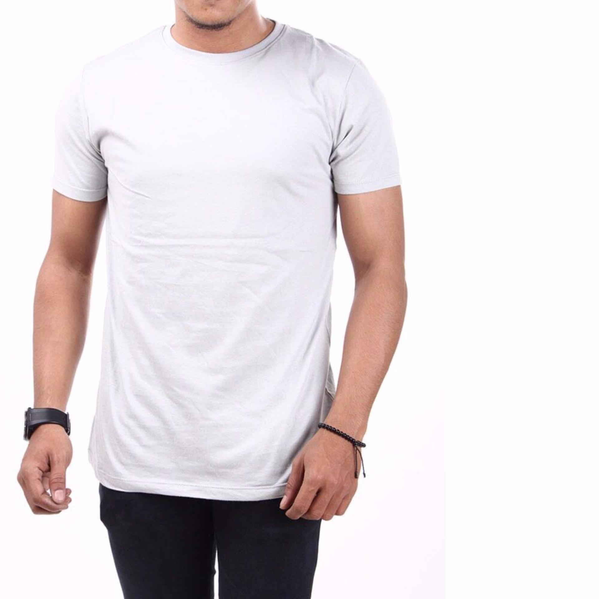 Irfan Store95 - Kaos Pendak O Neck - Abu Abu Terang