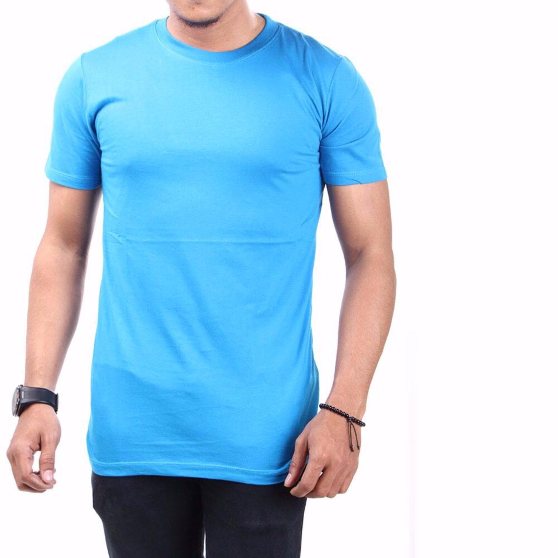 Irfan Store95 - Kaos Pendak O Neck - Biru